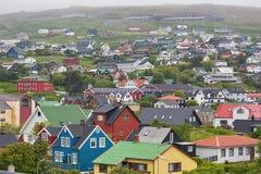 Torshavn, les Iles Féroé image libre de droits