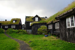 Torshavn with old houses of Tinganes on Faroe Islands Royalty Free Stock Photos