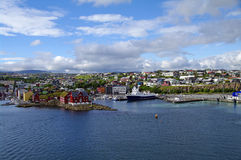 Torshavn old town and habor Royalty Free Stock Photo