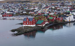 Torshavn, Tinganes view Faroe Islands. View on Tinganes and the colourfull houses of Torshavn on the Faroe Islands royalty free stock photography