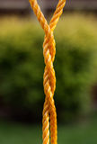Torsión de la cuerda Imagen de archivo libre de regalías