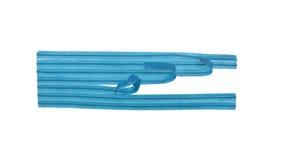 Torsión-Lazos azules Imagen de archivo libre de regalías