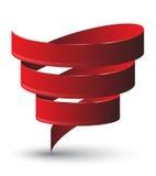 Torsión roja de la cinta Imágenes de archivo libres de regalías