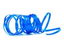 Torsion bleue de bande de cadeau photo libre de droits