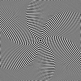 Torsion movement. Abstract op art design. Vector illustration Royalty Free Stock Images