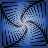 Torsion movement illusion. Abstract blue background. Stock Photos