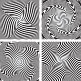 Torsion movement illusion. Set. Royalty Free Stock Images