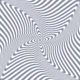 Torsion rotation 3D illusion. Royalty Free Stock Photography