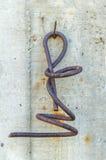 Torsione arrugginita molto vecchia del ferro sprial Fotografia Stock Libera da Diritti
