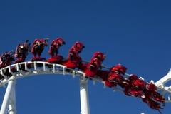 Torsione del roller coaster Fotografie Stock Libere da Diritti