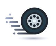 Torsione dell'icona della ruota Fotografia Stock