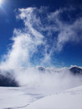 Torsione della nube Fotografia Stock
