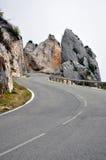 Torsione della strada rocciosa Fotografia Stock Libera da Diritti