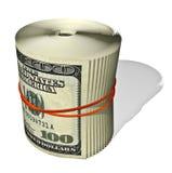 Torsione delle fatture del cento-dollaro Immagine Stock