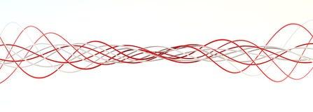 Torsione delle stringhe rosse e bianche Immagini Stock Libere da Diritti