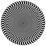 Torsione, forma a spirale con i cerchi Elemento punteggiato girante Sommario Fotografia Stock Libera da Diritti