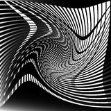 Torsione, forma a spirale con i cerchi Elemento punteggiato girante Sommario Immagine Stock Libera da Diritti