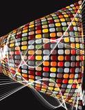 Torsione marrone del mosaico della discoteca Immagine Stock