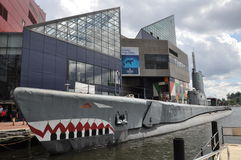 Torsk USS и национальный аквариум в Балтиморе Стоковая Фотография