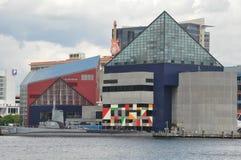 Torsk USS и национальный аквариум в Балтиморе Стоковое Изображение