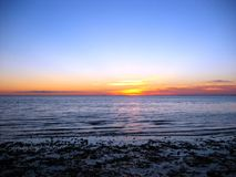 torsksolnedgång för 02 udd Royaltyfri Foto