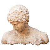 Torso antiguo del atleta de un hombre aislado en blanco Fotografía de archivo libre de regalías