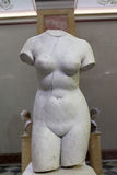 Torso of Aphrodite. She was the Greek goddess of love, beauty, pleasure, and procreation. Ancient Rome, 1st century, marble Royalty Free Stock Photo