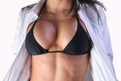 Torso apto de la hembra del bikini Fotos de archivo