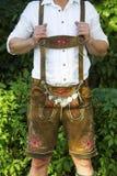 Torso of bavarian man Stock Images