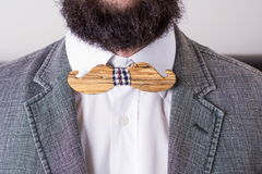 Torso of a bearded man in a suit Royalty Free Stock Image