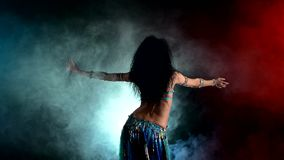 Torso of a beautiful young girl belly dancer on a stock video footage