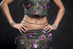 Torso of a Belly Dancer Royalty Free Stock Images