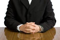 Torso of the businessman stock photos