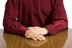Torso del hombre de negocios en una camisa Foto de archivo