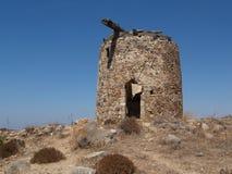 Torso del molino de viento griego Imágenes de archivo libres de regalías