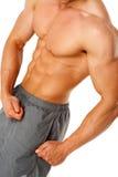 Torso des jungen muskulösen Mannes Lizenzfreies Stockfoto