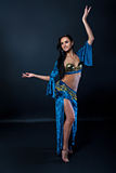 Torso of a female belly dancer Royalty Free Stock Images