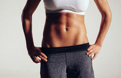 Torso of a female fitness model Stock Photo