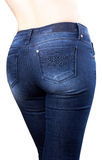Torso of girl in blue jeans Royalty Free Stock Photos
