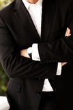 Torso of a man in business suit Stock Photos