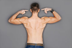 Torso of a man's back Royalty Free Stock Photography
