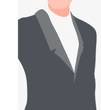 Torso of man in suit Royalty Free Stock Photography