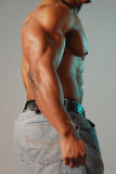 Torso maschio nero fotografie stock libere da diritti