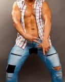Torso masculino bronceado Foto de archivo