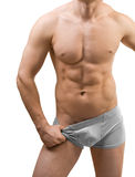Torso masculino isolado Fotos de Stock