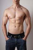 Torso masculino muscular Fotos de archivo libres de regalías