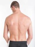 Torso masculino, vista traseira fotos de stock