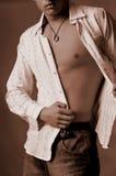 Torso met overhemd en halsband Stock Afbeeldingen