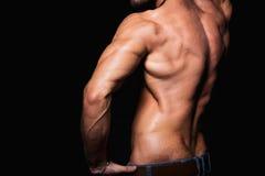Torso muscular y atractivo del hombre deportivo joven Imágenes de archivo libres de regalías