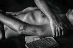 Torso of naked young man Royalty Free Stock Images